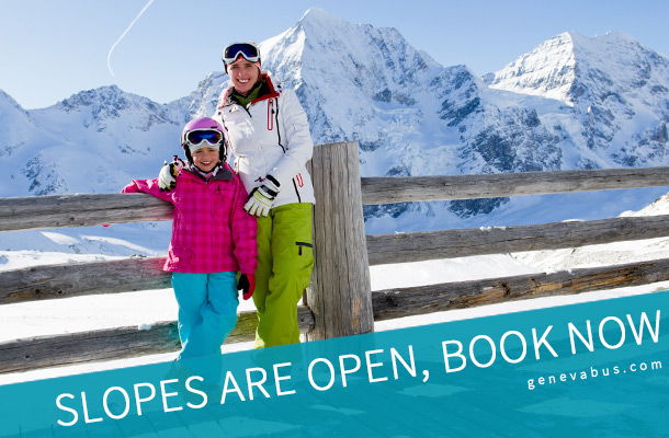 Slopes are opens, book now - Geneva airport transfer to ski resorts